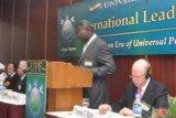 Выступление Габриэля Мессан Коджо, бывшего премьер-министра Того, на пленарном заседании конференции
