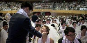 В Южной Корее 3800 пар сыграли свадьбу в один день