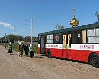 По Казанской епархии ездит храм-автобус, а по Новосибирской плавает корабль-церковь